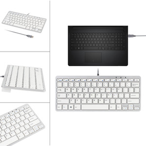 Wholesale apple keyboards resale online - New Ultra Thin Slim Key Wired USB Mini PC Keyboard for PC Apple Mac Laptop