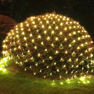 Wholesale X2M LED Net Mesh Fairy web String Light twinkle lamp Outdoor Party Garden Christmas Tree wrap Wedding Garland Light
