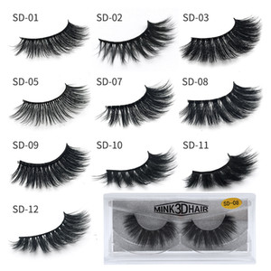 3D Mink Eyelashes Wholesale Natural False Eyelashes Soft make up Eyelashes Extension Makeup Fake Eye Lashes Pack 3D Mink Lashes Bulk
