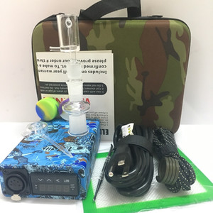 Wholesale dab rig heater resale online - Quartz Banger Enail dab rig kit PID TC controller box E nail portable mm mm male female with mm coil heater for glass water bong