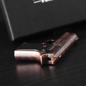 dual flame jet torch Pistol gun Cigarett Lighter 945M Refillable Butane Gas windproof