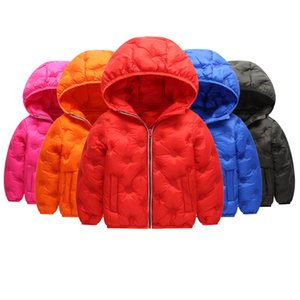 a96e32717 Wholesale Kids Down Hoodies Coats Cotton Lighter Zipper New Pressing  Technology Long Sleeve Toddler Baby Boys