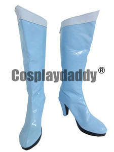 mercúrio azul venda por atacado-Sailor Moon Mercury luz azul Halloween Cosplay botas sapatos