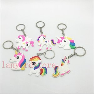 Wholesale Cartoon style Image of a pony Pendant PVC Keychain creative practical advertising promotion small gift event factory direct sale