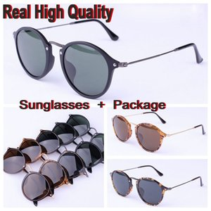 Wholesale 2447 f round brand top quality sunglasses glasses oclos real plank acetate material frame uv400 protection lenses round retros sunglasses