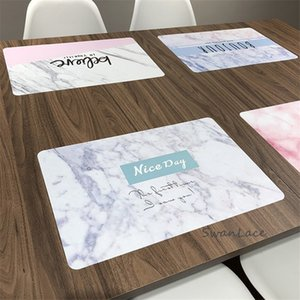 Marble texture Placemat Linen Insulation Dining Table Mat Non-slip Coasters Kitchen Accessories Cup Mat Stand Under Hot Cup Pads