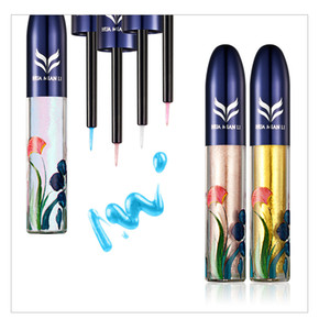 Wholesale Hot makeup brand HUAMIANLI Liquid Eyeliner Glitter colors with Pearl Luster Shimmer Eyeliner DHL shipping