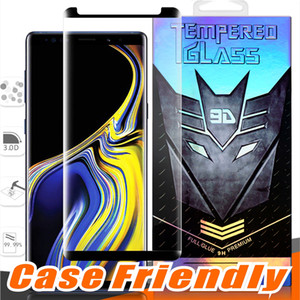 Wholesale Case Friendly Full Glue Small version Tempered Glass For Samsung Galaxy Note S10 S9 Plus S8 S7 Edge D Curve Clear Screen Protector
