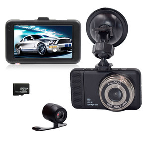 Wholesale 3inch T659 LCD Dual Dvr Camera P Full HD Degree angle back camera For Driving Recording Car Detector