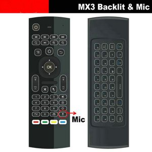 Wholesale Air Mouse Backlit MX3 pro with Voice Microphone Mic G Wireless Mini Keyboard with IR Learning Extend Remote Controller