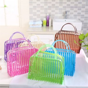 Wholesale Hot sale transparent waterproof wash gargle bag large capacity outdoor travel storage bag travel package T3D0106