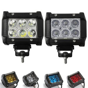 Wholesale 2pcs inch W Led Work Light V Driving Lamp D D Lens Offroad Led Light Bar White Yellow Blue Red Car Off Road x4WD