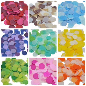 Wholesale 2 cm Round Multicolor Paper Confetti Balloon Filler Table Decoration Baby Shower Birthday Decor Even Party Supplies
