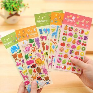 DIY puffy bubble stickers cute cartoons animals pvc stickers ablum diary scrapbooking stickers kids toys kawaii stationery