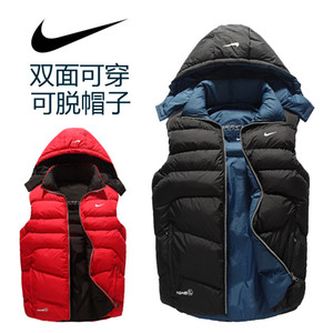 Wholesale Hot Brand Men s Vests Casual Winter Thick Cotton Padded Jackets Brand Reversible Solid Color Vests for Men Fashion Outwear Sport Jackets
