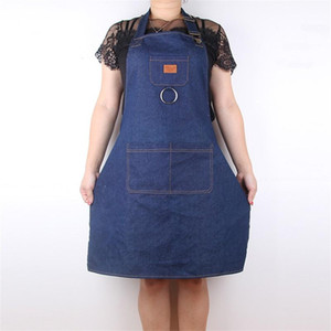 Men And Women Waiter Milk Tea Shop Work Aprons Thickening Denim Apron Cook Coverall Simple Durable Hot Sale13cl aa