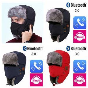 76d879cb536 Autumn Winter Wireless Bluetooth Smart Cap Headset Headphone Speaker Mic  Bluetooth Hat Warm Beanie Hat MMA771
