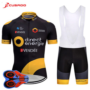 2018 Team Direct Short Sleeve Cycling Jersey 9D Gel Pad Bike Shorts Ropa Ciclismo Mens Quick Dry BICYCLING Maillot Culotte Clothing