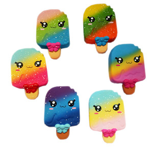 Wholesale Fidget PU Color rainbow Ice cream toys Squishy Slow rebound squishy Simulation Funny Gadget Vent Decompression toy B001