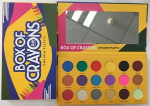 2018 makeup Eyeshadow Palette Box of crayons ishadow palette Cosmetics 18 Colors Shimmer Beauty Matte Eye shadow THE CRAYONS CASE DHL