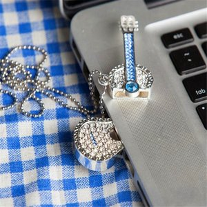 32GB USB 3.0 Flash Pen Drive Rhinestone Guitar Pendrive Memory Stick Thumb USB Storage U Disk Upgraded Version