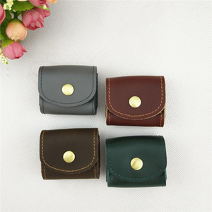 New leather headset bag coin storage bag headset storage bag on Sale