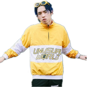 Fashion Brand Men Jacket Loose Street Baseball Uniform BBOY HIPHOP Europe and Hong Kong Style Jacket and Windbreaker Harajuku M-2XL