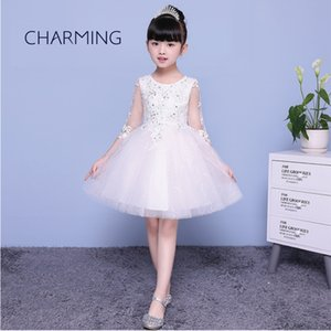 Wholesale Baby girl fairy dress Embroidery design handmade bead craft Suitable for school season Graduation Show Dance Lace Princess Dress