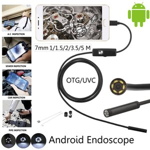 7mm Android Endoscope Waterproof Snake Borescope Camera USB Android Endoscope Borescope 6LED