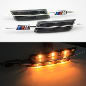 Wholesale 1 pair M LED Smoke Side Marker Lights Turn Signals Lamps FOR BMW E81 E88 E82 E87 E60 E61 E90 E91 E92 E93