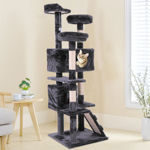 "Wholesale 60"" Cat Tree Tower Condo Furniture Scratching Post Pet Kitty Play House Black"