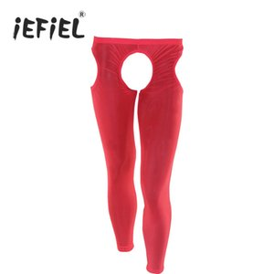 Wholesale Hot Men Long Johns Clothes Male Open Crotch Men s Body Shaper Lingerie Gay Underwear Underpants Sexy Intimates Wetlook Panties