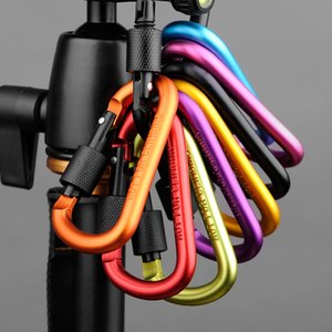 Outdoor Sports Equipment D ring carabiner camp keychain Aluminium locking Carabiner Hook carabiner buckle Home Storage Hooks