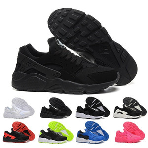 Wholesale With Box Classical air Huarache Running Shoes Huaraches Mens women Triple Black White red Breathable Mesh sports Casula Sneakers US