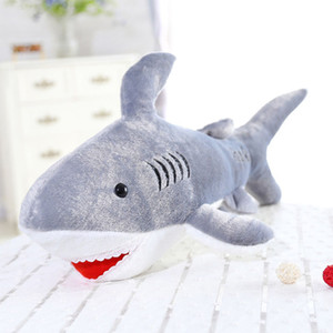 Wholesale 45cm Kawaii Soft Giant Shark Plush Whale Stuffed Fish Ocean Animals Doll Toys for children kids cartoon toy for baby s gift