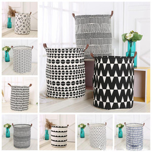 Wholesale Ins Storage Baskets Bins Kids Room Toys Storage Bags Bucket Clothing Organization Canvas Laundry Bag