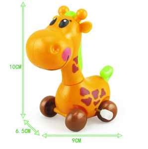 Wholesale 5pcs Lovely wind up toy animal funny baby Zoo Baby deer design Running Clockwork Spring Toy newborn baby clockwork toy Color Random