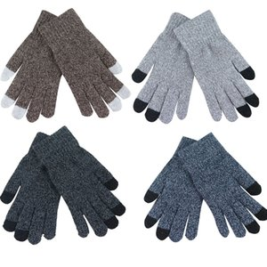 Women Men Multi-function Knitted Screen Winter Gloves Soft Warm Mitten for iPhone Smartphones Laptop Tablet Cashmere 21*9CM D18110806