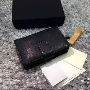 Wholesale Hot sale of famous fashion brand women with high quality caviar mini wallet distribution brand serial number