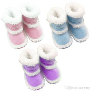 Wholesale Toddler Kids Baby Boots Soft Bottom Crib Shoes Infant Girls Winter Warm Booties