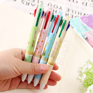 Wholesale 40pcs Cute Pets Forest In Colorful Ballpoint Pen Kawaii Student Multi Functional Colour Writing Ball Pen Kids Gift