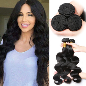 "Wholesale Virgin Hair Weaves Peruvian Body Wave 3 Pieces 100% Unprocessed Thick Human Hair Weft Long Inch 8""- 26"" Bundles"