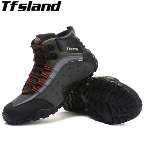 Wholesale Autumn Winter Men Hiking Shoes Nubuck Climbing Shoes Waterproof Outdoor Trekking Genuine Leather Mountain Sneakers
