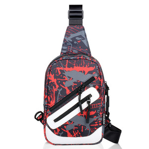 Wholesale 2018 Cool Men Printed Sport Demin Cross body bag colors Student Casual Fanny pack Chest Bags