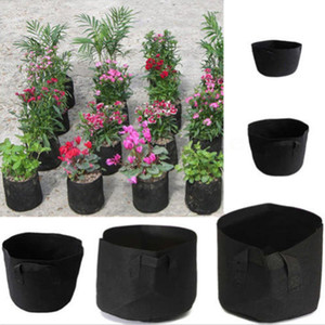 Wholesale gardening containers resale online - Round Fabric Pots Plant Pouch Root Container Grow Bag Aeration Pot Container Garden Planters Pots