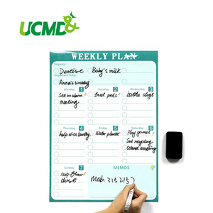 Wholesale Magnetic Calendar Fridge Magnets Dry Erase Board To Do List Weekly Daily Planner Organizer for Kitchen Fridge