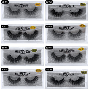 Wholesale 20style 3d Mink Hair Fake Eyelash 100% Thick real mink HAIR false eyelashes natural Extension fake Eyelashes DHL free shipping