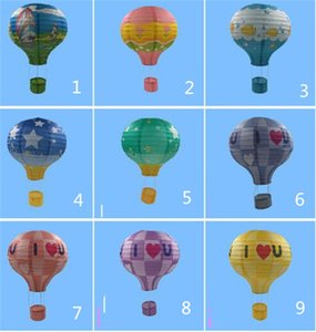 Wholesale 12''30cm Rainbow Hot Air Balloon Paper Lantern Bar decora Kids Birthday Party Wedding Decoration party supplies