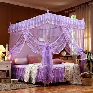 Encryption Palace Mosquito Net 3 Open Door Bracket Mosquitos Nets Student Dormitory Elegant Beautiful Lace Princess Home Textiles 60nt2 gg on Sale