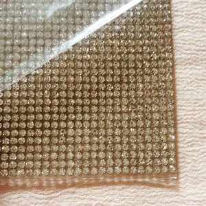 Wholesale SS6 mm Super Bling Clear Rhinestone Adhesive Mesh Hotfix Sheets Crystal Glass Sheets For Wedding Event Ceremonies Decorations